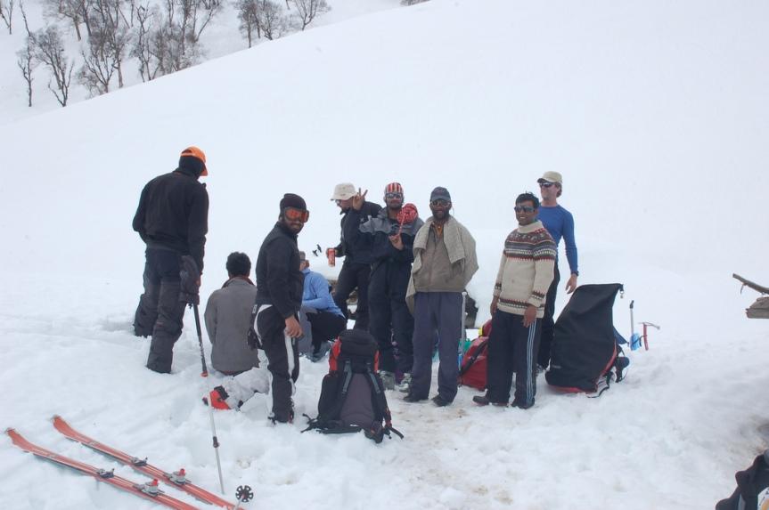 kashmir kolahoi glacier ski mountaineering