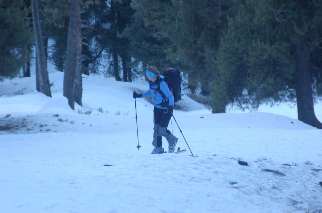 skiing in pahalgam aru valley