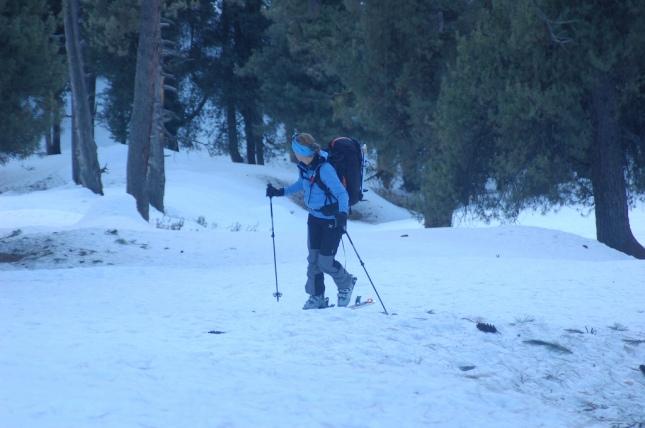 skiing in pahalgam aru valley
